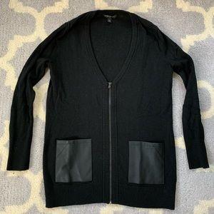 Banana Republic black zip up cardigan